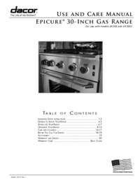 Use & Care Manuals PDF [4.0 MB]