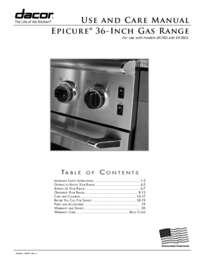 Use & Care Manuals PDF [4.5 MB]