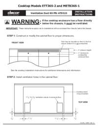 Installation Instructions Electric Cooktop Ducting [478 KB]