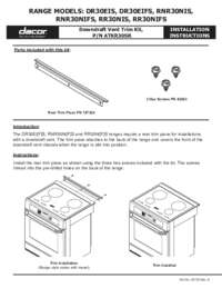 Installation Instructions ATKR30SR Downdraft Trim Kit [510 KB]
