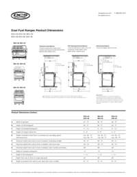 Spec Sheet DCS Dual Fuel Range