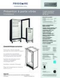Feuille de specifications du produit (Français)