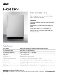 Brochure BI605BSSVH