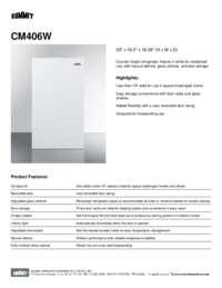 Brochure CM406W