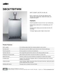 Brochure SBC677BITWIN