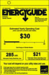 Energy Guide Labels: Energyguide_Futura_Classic