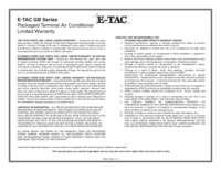 ETAC Warranty