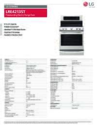 LRE4213ST Spec Sheet
