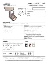 809 Spec Sheet