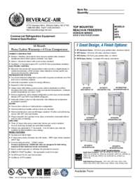 H solid freezers specs