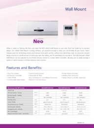 Neo Wall Mount Brochure