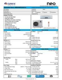 Submittal Neo 9000 BTU HP 230V System