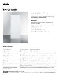 Spec Sheet   FF1071WIM