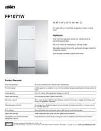 Spec Sheet   FF1071W