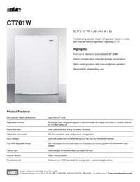 Spec Sheet   CT701W