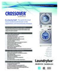 Crossover Stacked Washer Dryer Specs