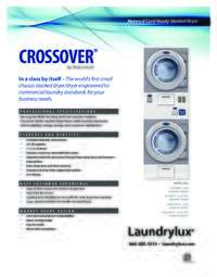 Crossover Stacked Dryers Specs