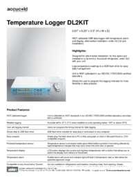 Spec Sheet   Temperature Logger DL2KIT