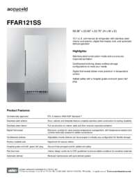 Spec Sheet   FFAR121SS
