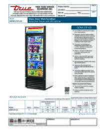 GDM 23F LD Spec Sheet