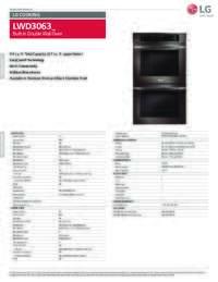 Specification Sheet LWD3063BD