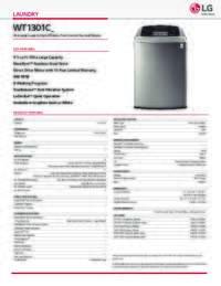 WT1301 Spec Sheet