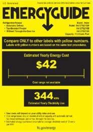 Energy Card 11.5 cu. ft. Models