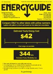 Energy Card 11.5 cu. ft. Models