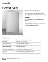 Brochure FS408BL7SSHV