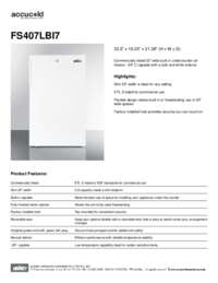 Spec Sheet   FS407LBI7