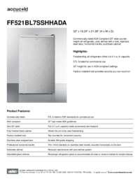 Brochure FF521BL7SSHHADA