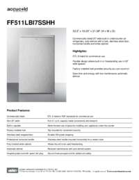 Spec Sheet   FF511LBI7SSHH