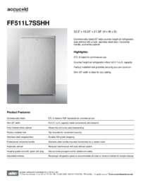 Brochure FF511L7SSHH