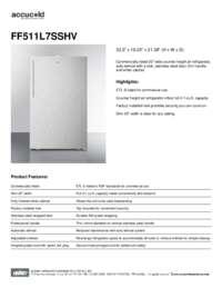 Brochure FF511L7SSHV