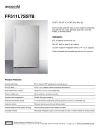 Brochure FF511L7SSTB