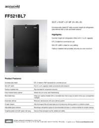 Brochure FF521BL7