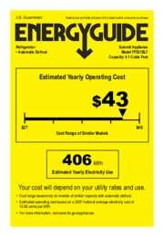 EnergyGuide FF521BL7