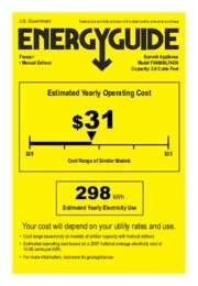 EnergyGuide FS408BL7ADA