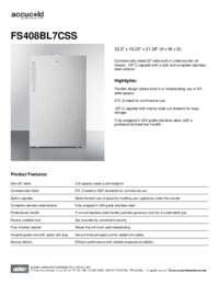 Brochure FS408BL7CSS