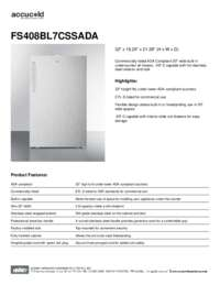 Brochure FS408BL7CSSADA