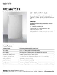 Brochure FF521BL7CSS