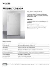 Brochure FF521BL7CSSADA