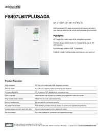 Brochure FS407LBI7PLUSADA