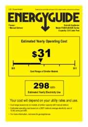 Energy Guide for FS407LBIADA Series