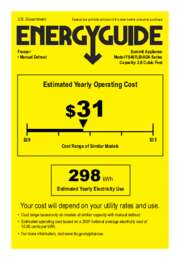 Energy Guide for FS407LBIADA Series