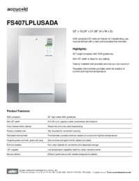Brochure FS407LPLUSADA