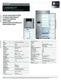 LSSB2692ST Spec Sheet