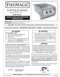 User Manual for Powe Burner Diamond Series