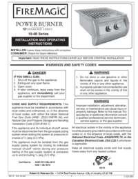 User Manual for Powe Burner Diamond Series
