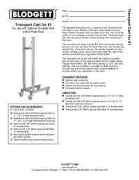 Cart 61 spec